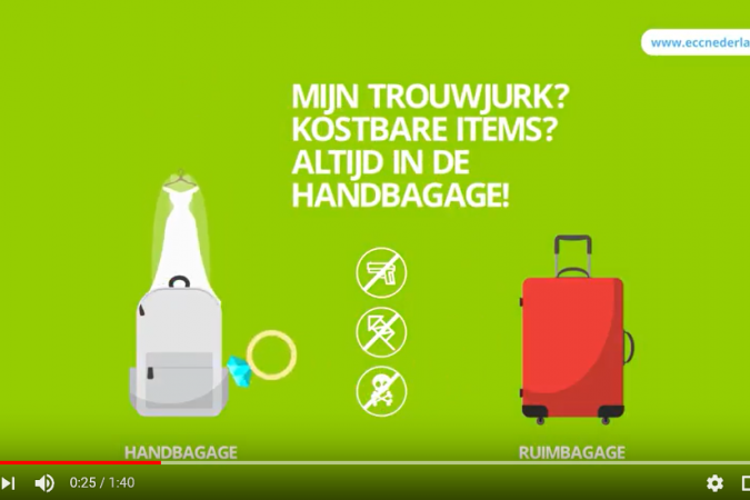 Video baggage rules, ECC Netherlands
